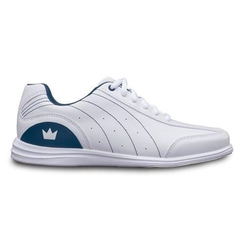 Brunswick Womens Mystic White Navy Bowling Shoes - DiscountBowlingSupply.com