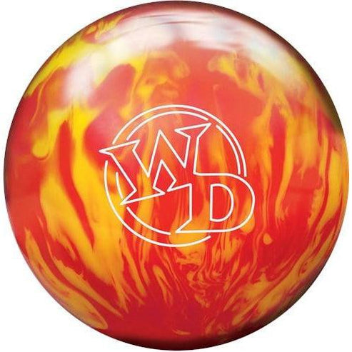Columbia 300 White Dot Lava Fire Bowling Ball-DiscountBowlingSupply.com