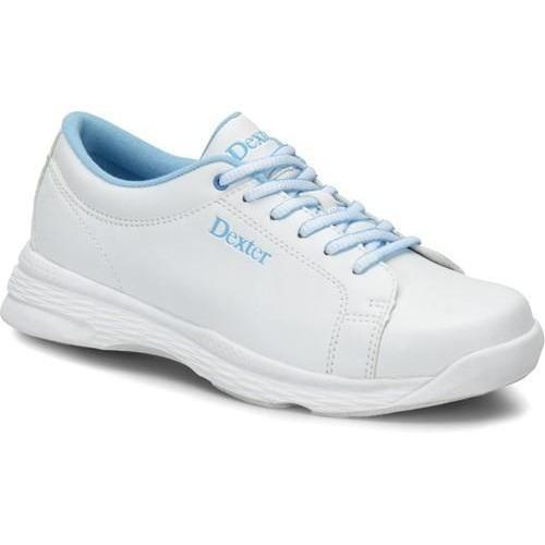 Dexter Girls Raquel V Jr. White Blue Bowling Shoes - DiscountBowlingSupply.com