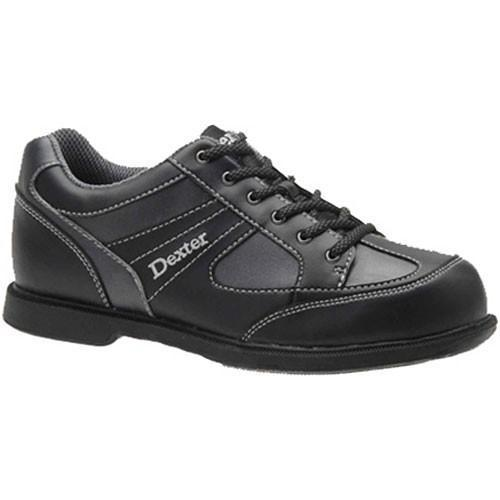 Dexter Mens Pro Am II Black Grey Right Hand Bowling Shoes - DiscountBowlingSupply.com