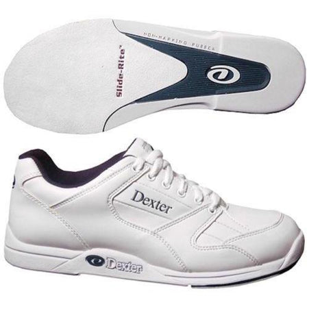 Dexter Mens Ricky II White Bowling Shoes - DiscountBowlingSupply.com