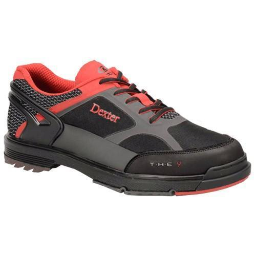 Dexter Mens The 9 HT Black Red Grey Wide - DiscountBowlingSupply.com