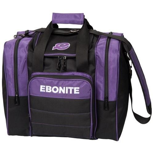 Ebonite Impact Plus Single Tote Purple-Bowling Bag-DiscountBowlingSupply.com