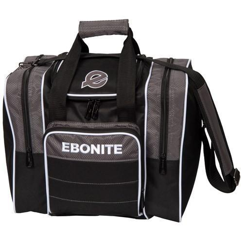 Ebonite Impact Plus Single Tote Silver Smoke - DiscountBowlingSupply.com