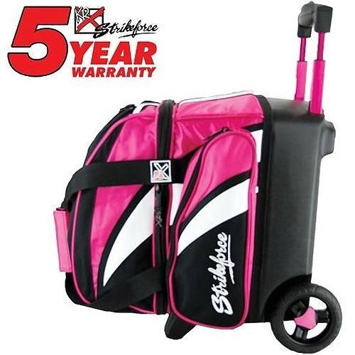 KR Cruiser Single Roller Pink White Black-Bowling Bag-DiscountBowlingSupply.com