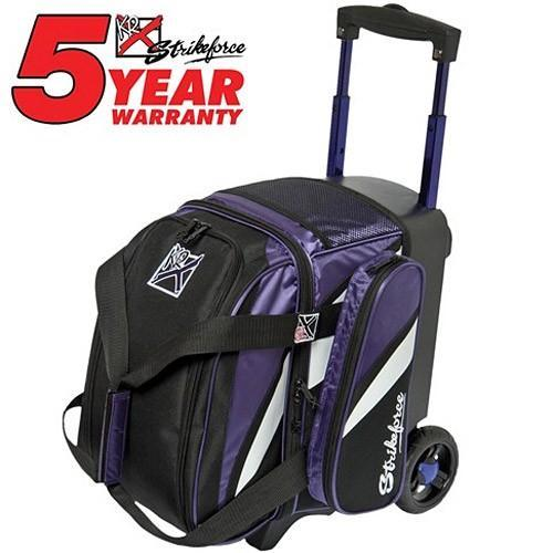 KR Cruiser Single Roller Purple White Black-Bowling Bag-DiscountBowlingSupply.com