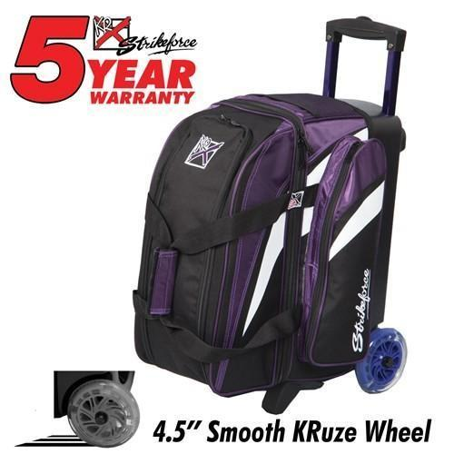 KR Cruiser Double Roller Purple White Black - DiscountBowlingSupply.com