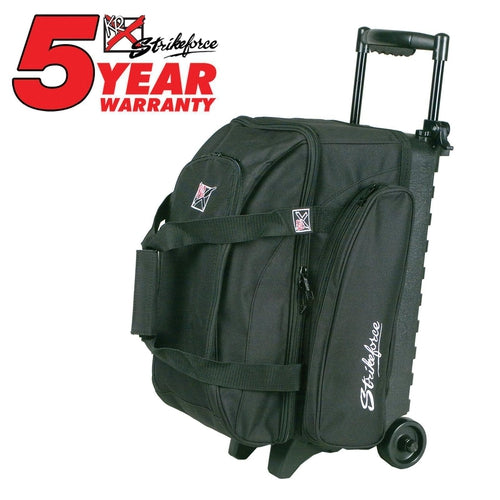KR Eliminator 2 Ball Double Roller Black-Bowling Bag-DiscountBowlingSupply.com