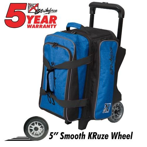 KR Krush Double Roller Blue Black Bowling Bag-DiscountBowlingSupply.com