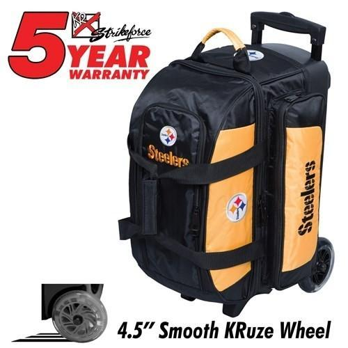KR NFL Double Roller Pittsburgh Steelers-Bowling Bag-DiscountBowlingSupply.com