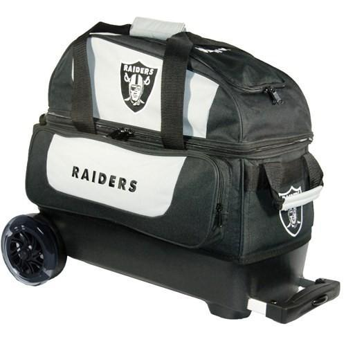 KR NFL Double Roller Raiders-Bowling Bag-DiscountBowlingSupply.com