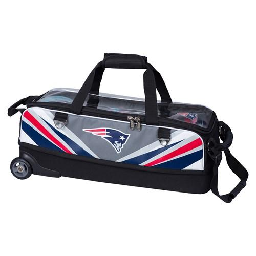 KR NFL Slim Triple Roller New England Patriots Bowling Bag-DiscountBowlingSupply.com