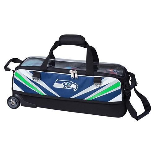 KR NFL Slim Triple Roller Seattle Seahawks Bowling Bag-DiscountBowlingSupply.com