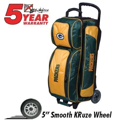 KR NFL Triple Roller Packers-Bowling Bag-DiscountBowlingSupply.com