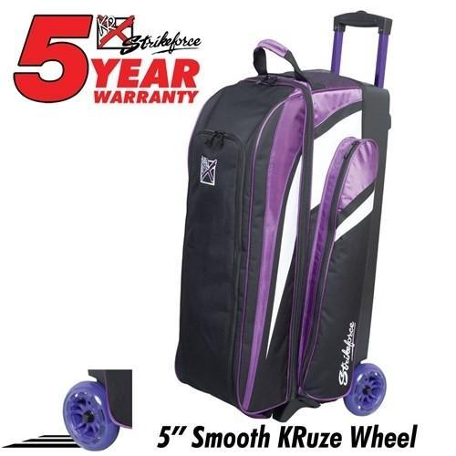KR Strikeforce Cruiser Smooth Triple Roller Purple-Bowling Bag-DiscountBowlingSupply.com