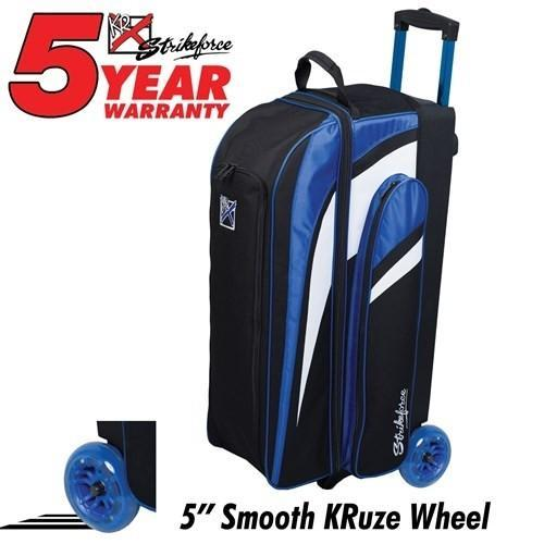 KR Strikeforce Cruiser Smooth Triple Roller Royal-Bowling Bag-DiscountBowlingSupply.com