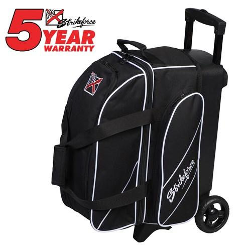 KR Strikeforce Fast Double Roller Black-Bowling Bag-DiscountBowlingSupply.com