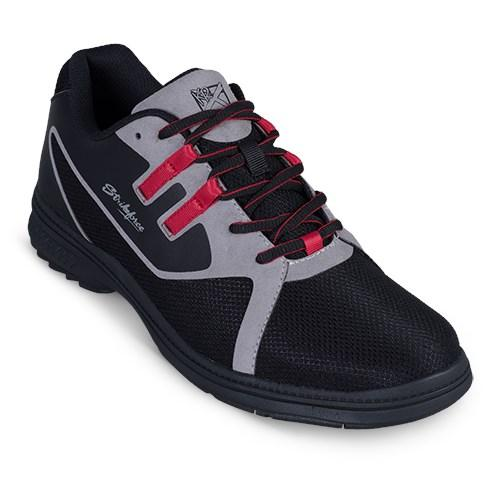 KR Strikeforce Mens Ignite Black Grey Red Right Hand Bowling Shoes-DiscountBowlingSupply.com