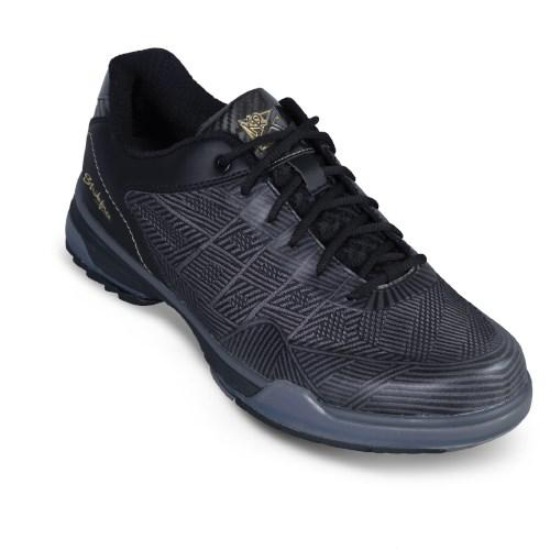 KR Strikeforce Mens Rage Gunmetal Black Right Hand Wide Width Bowling Shoes-DiscountBowlingSupply.com