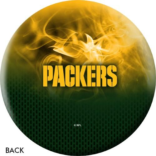 KR Strikeforce NFL on Fire Green Bay Packers Bowling Ball-DiscountBowlingSupply.com