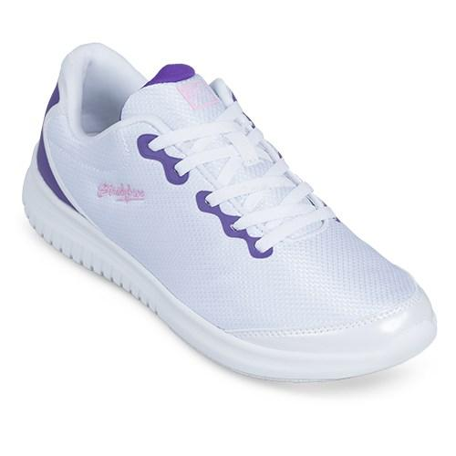 KR Strikeforce Womens Glitz White Purple Bowling Shoes-DiscountBowlingSupply.com