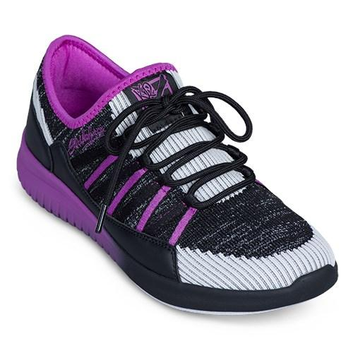 KR Strikeforce Womens Jazz Black Purple Bowling Shoes-DiscountBowlingSupply.com