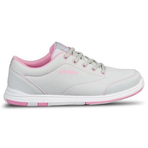 KR Womens Chill Light Grey Pink Bowling Shoes - DiscountBowlingSupply.com