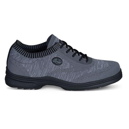 Linds Mens Heritage Black Charcoal Right Hand Bowling Shoes-DiscountBowlingSupply.com