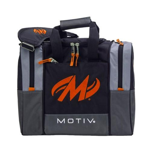 Motiv Shock Black Orange Single Tote Bowling Bag-DiscountBowlingSupply.com