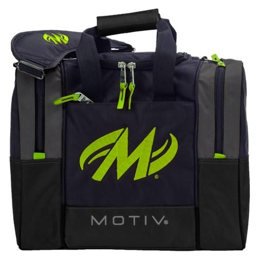 Motiv Shock Grey Lime Single Tote Bowling Bag-DiscountBowlingSupply.com