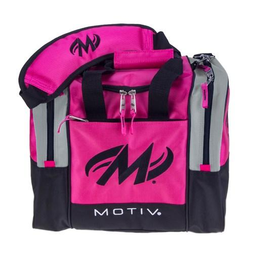 Motiv Shock Hot Pink Single Tote Bowling Bag-DiscountBowlingSupply.com