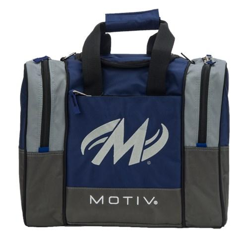 Motiv Shock Navy Single Tote Bowling Bag-DiscountBowlingSupply.com