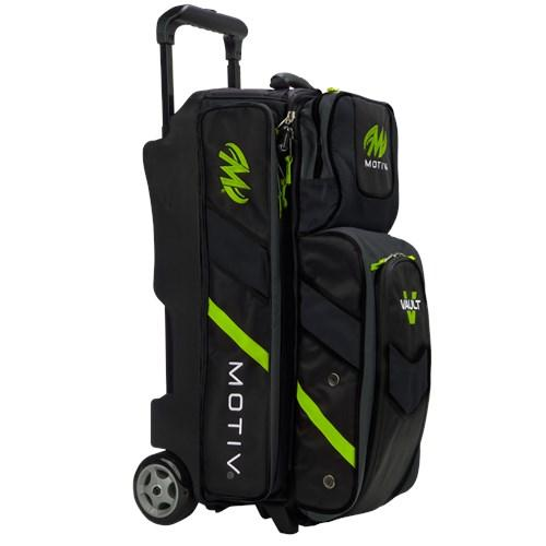 Motiv Vault Triple Roller Grey/Lime Bowling Bag-DiscountBowlingSupply.com