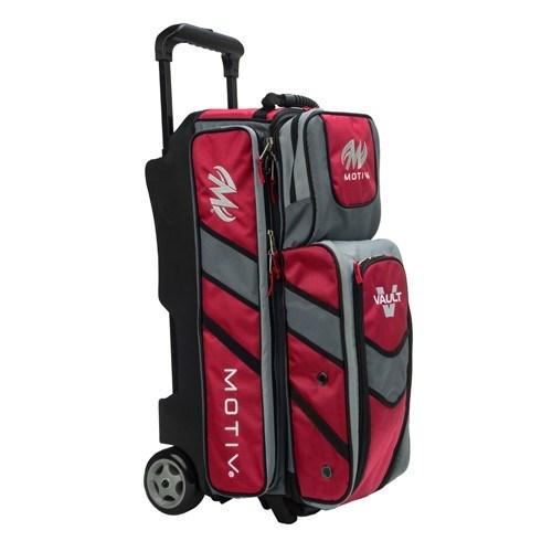 Motiv Vault Triple Roller Red Bowling Bag-DiscountBowlingSupply.com