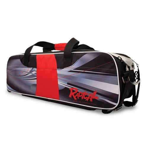 Radical Triple Tote Dye-Sub Black Red Bowling Bag-DiscountBowlingSupply.com