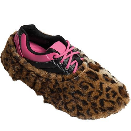 Robby Fuzzy Leopard Bowling Shoe Covers-DiscountBowlingSupply.com
