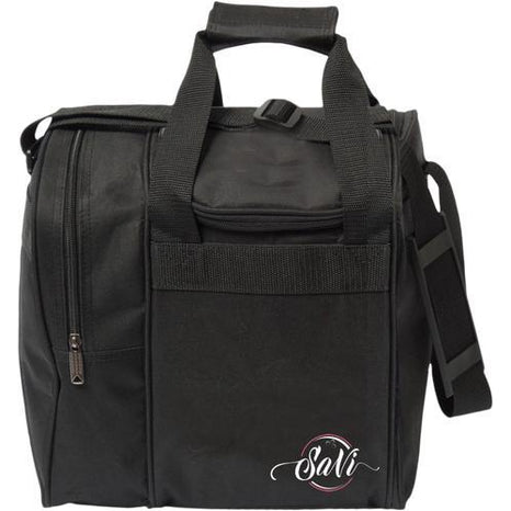 SaVi Black Single Tote Bowling Bag - DiscountBowlingSupply.com
