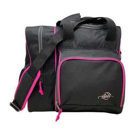 SaVi Black/Pink Deluxe Single Tote Bowling Bag - DiscountBowlingSupply.com