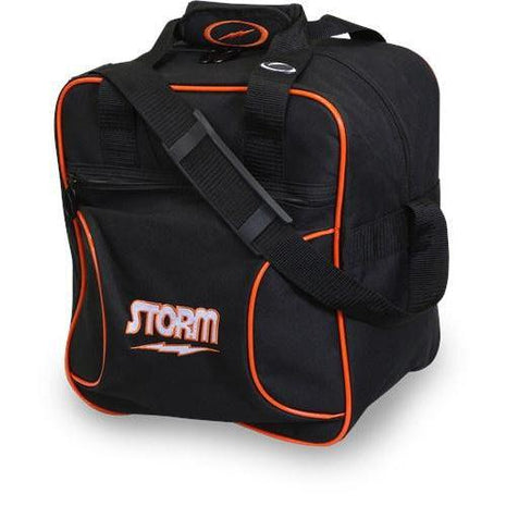 Storm 1 Ball Solo Black Orange Bowling Bag-DiscountBowlingSupply.com