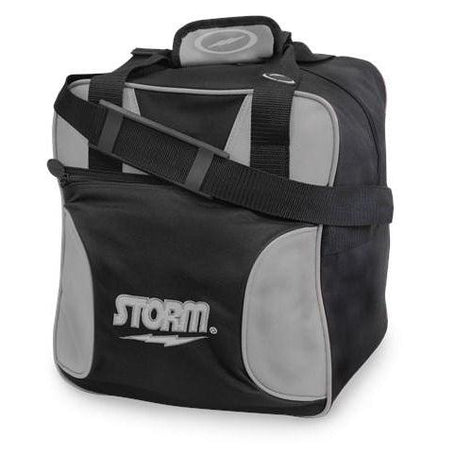 Storm 1 Ball Solo Black Silver Bowling Bag-DiscountBowlingSupply.com