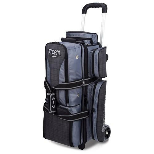 Storm 3 Ball Rolling Thunder Charcoal Plaid/Grey/Black-Bowling Bag-DiscountBowlingSupply.com