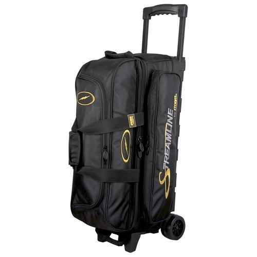 Storm Streamline 3 Ball Roller Black-Bowling Bag-DiscountBowlingSupply.com