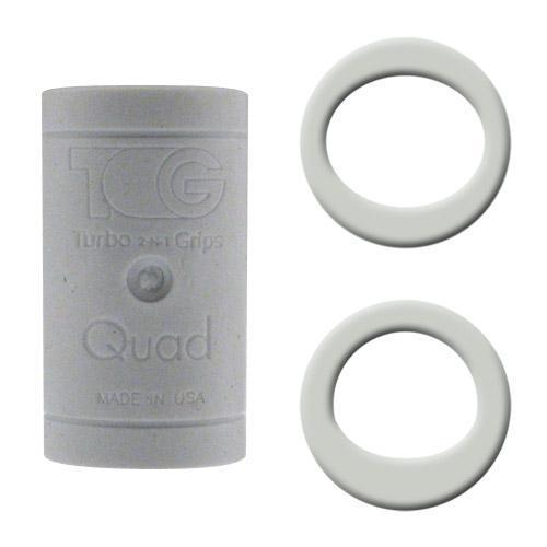 Turbo Grips Quad Finger Insert White - DiscountBowlingSupply.com