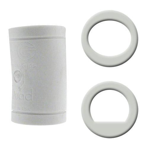 Turbo Grips Quad Classic Finger Insert White - DiscountBowlingSupply.com