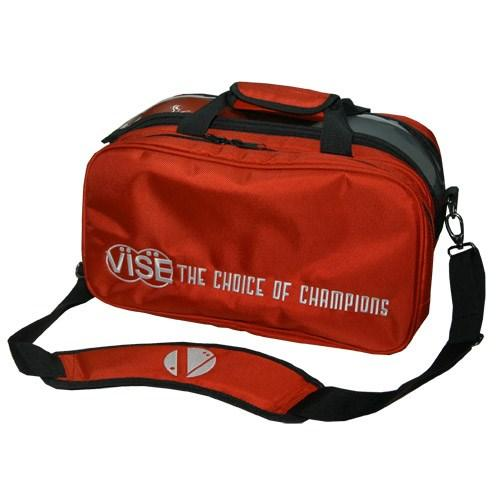 Vise 2 Ball Clear Top Tote Plus Red - DiscountBowlingSupply.com