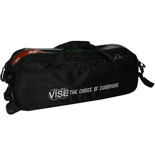 Vise 3 Ball Clear Top Tote Roller Black-Bowling Bag-DiscountBowlingSupply.com