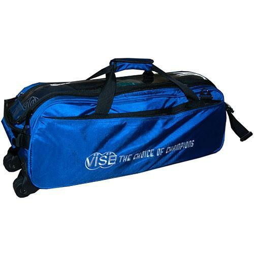 Vise 3 Ball Clear Top Tote Roller Blue-Bowling Bag-DiscountBowlingSupply.com