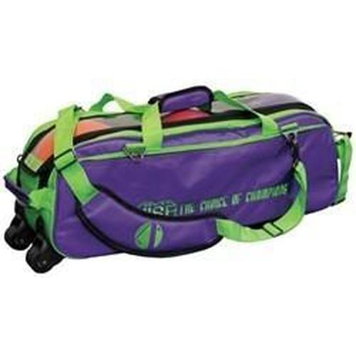 Vise 3 Ball Clear Top Tote Roller Grape Green-Bowling Bag-DiscountBowlingSupply.com