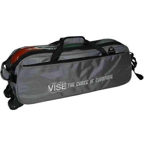 Vise 3 Ball Clear Top Tote Roller Grey - DiscountBowlingSupply.com