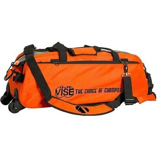 Vise 3 Ball Clear Top Tote Roller Orange - DiscountBowlingSupply.com